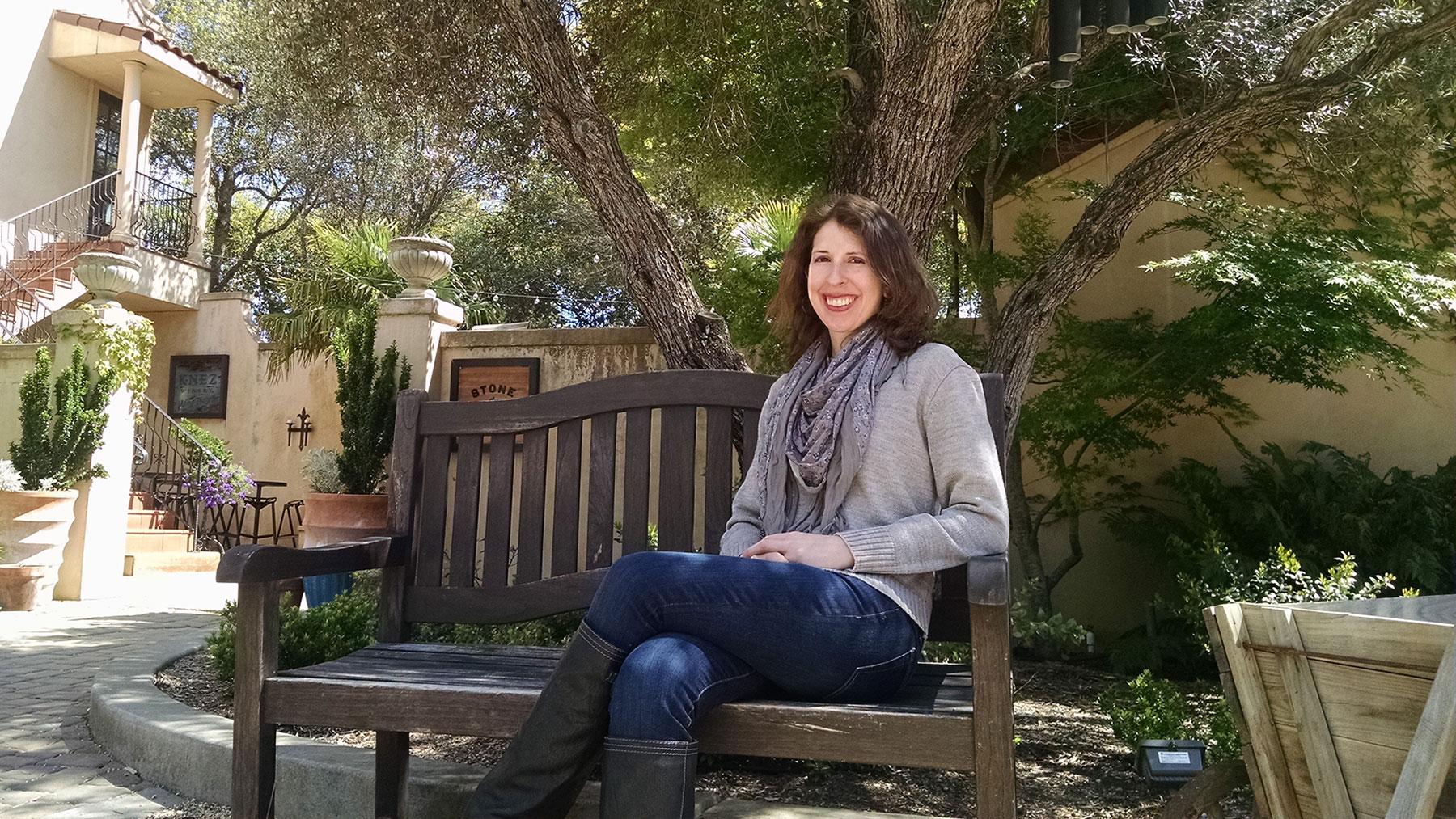 Carlyn sitting